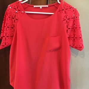 RACHEL Rachel Roy Red Blouse